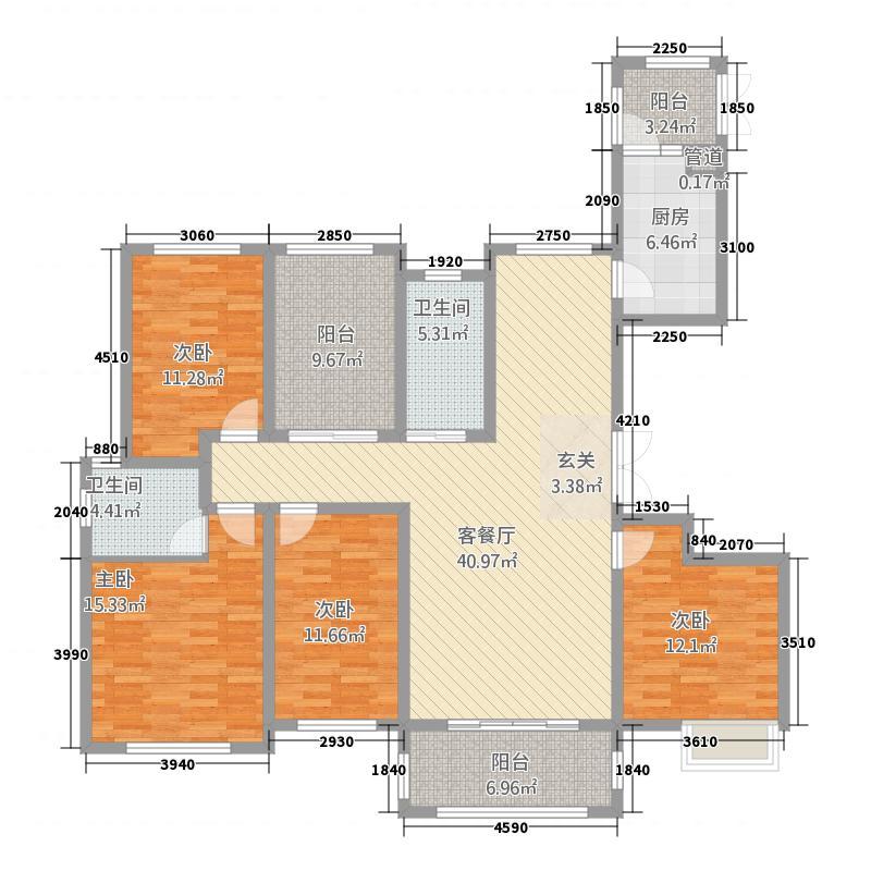 懿合苑842183.44㎡户型4室2厅2卫