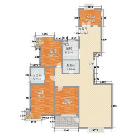 公交集资房3室1厅2卫1厨217.00㎡户型图