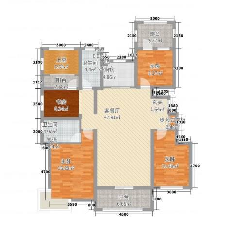 富立・秦皇半岛3室1厅2卫1厨138.00㎡户型图