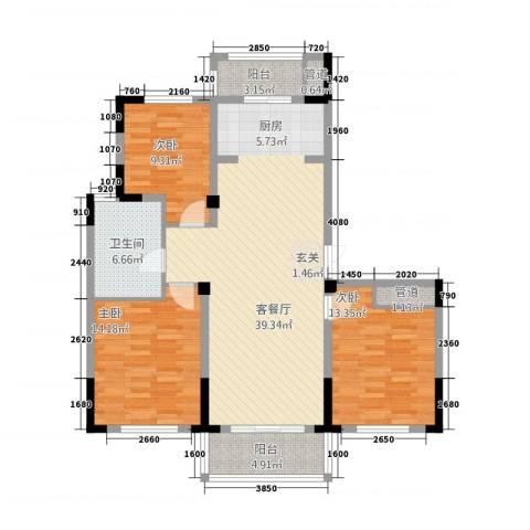 东方花园3室1厅1卫0厨3132.00㎡户型图