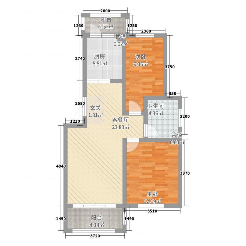 蓝山原著12111.72㎡户型2室1厅1卫1厨