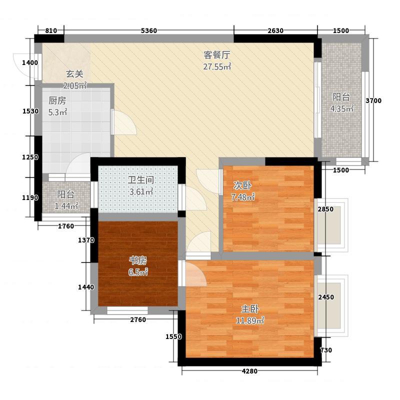 国博城一期高层1号楼标准层G5户型