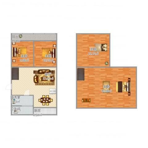 中环花园4室2厅1卫1厨164.00㎡户型图