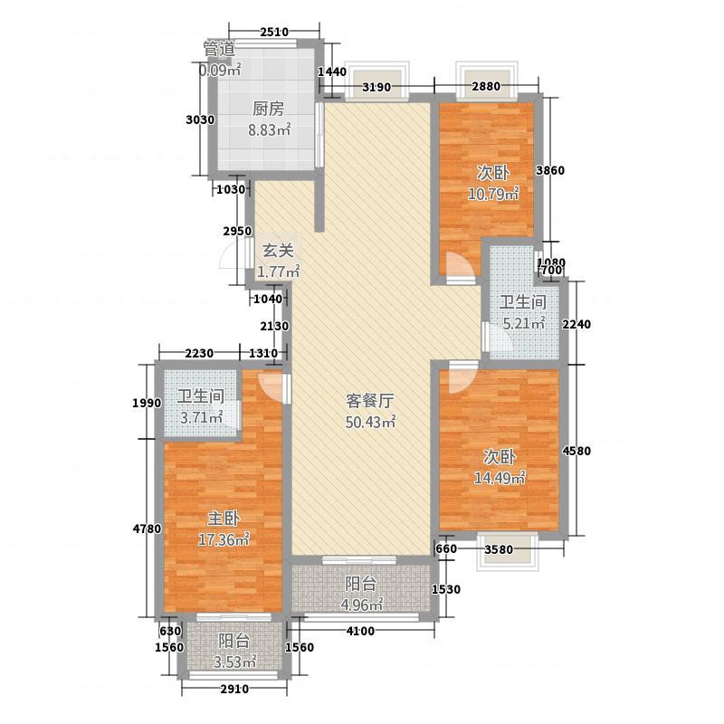 中阳・银海花园1717.20㎡户型3室2厅2卫1厨