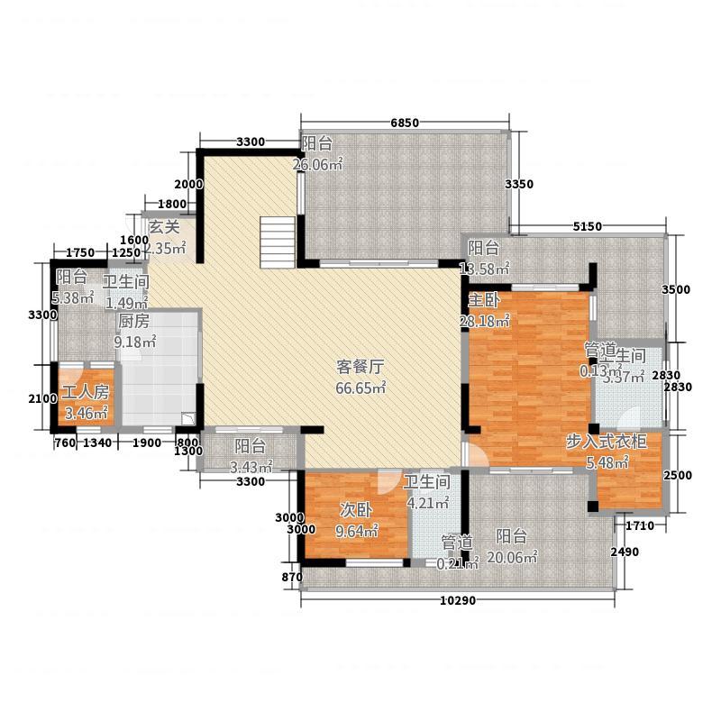 兆南丽湾388.31㎡尚海轩、竞海轩E2跃下户型5室3厅4卫1厨