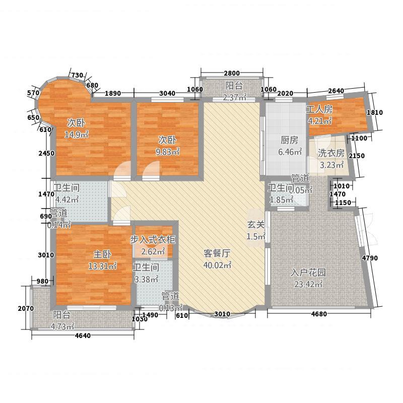 水云天172.00㎡千年龙湖居户型4室