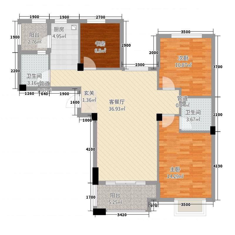 青山鹤岭321.20㎡G户型3室2厅2卫1厨