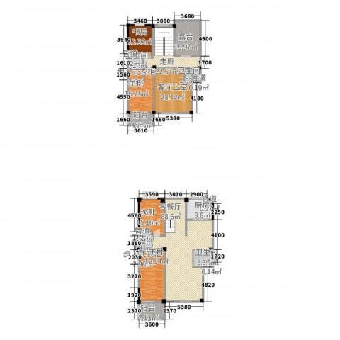 彩虹湾佳园4室1厅4卫1厨240.66㎡户型图