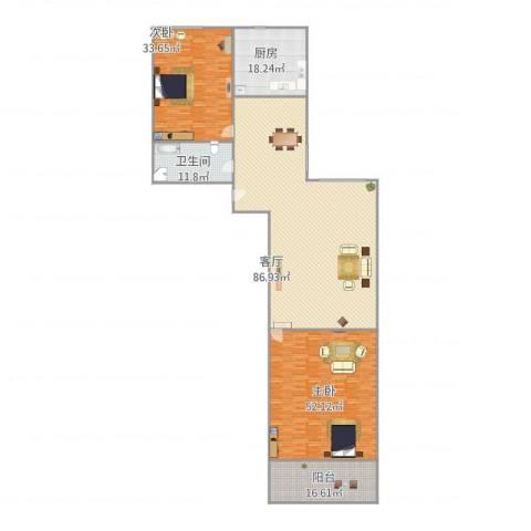 宝华新区2室1厅1卫1厨285.00㎡户型图