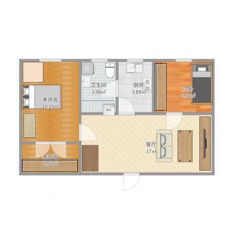 日晖六村1室1厅1卫1厨62.00㎡户型图