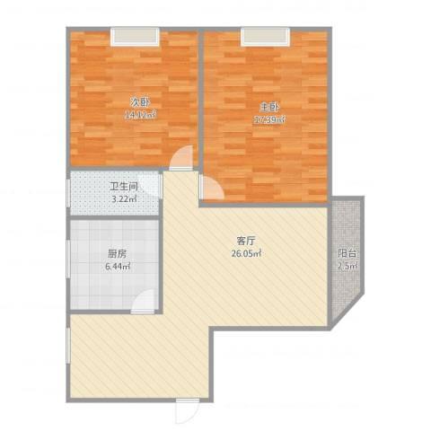 惠景城2室1厅1卫1厨94.00㎡户型图