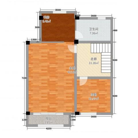 卡布其诺2室0厅1卫0厨106.00㎡户型图