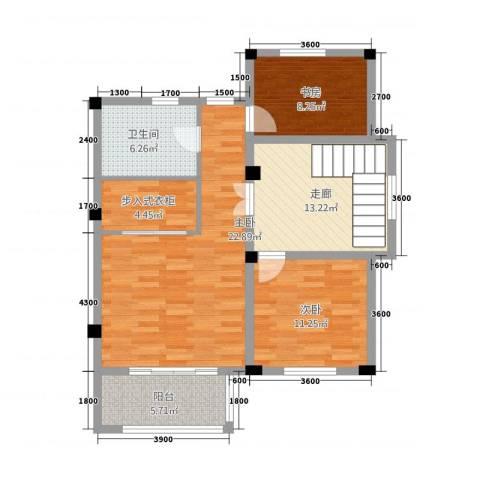 卡布其诺3室0厅1卫0厨103.00㎡户型图