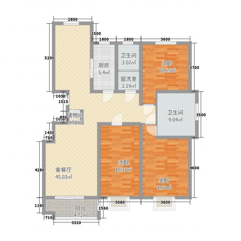 凤凰永安居72157.20㎡7#B2库・户型3室2厅2卫