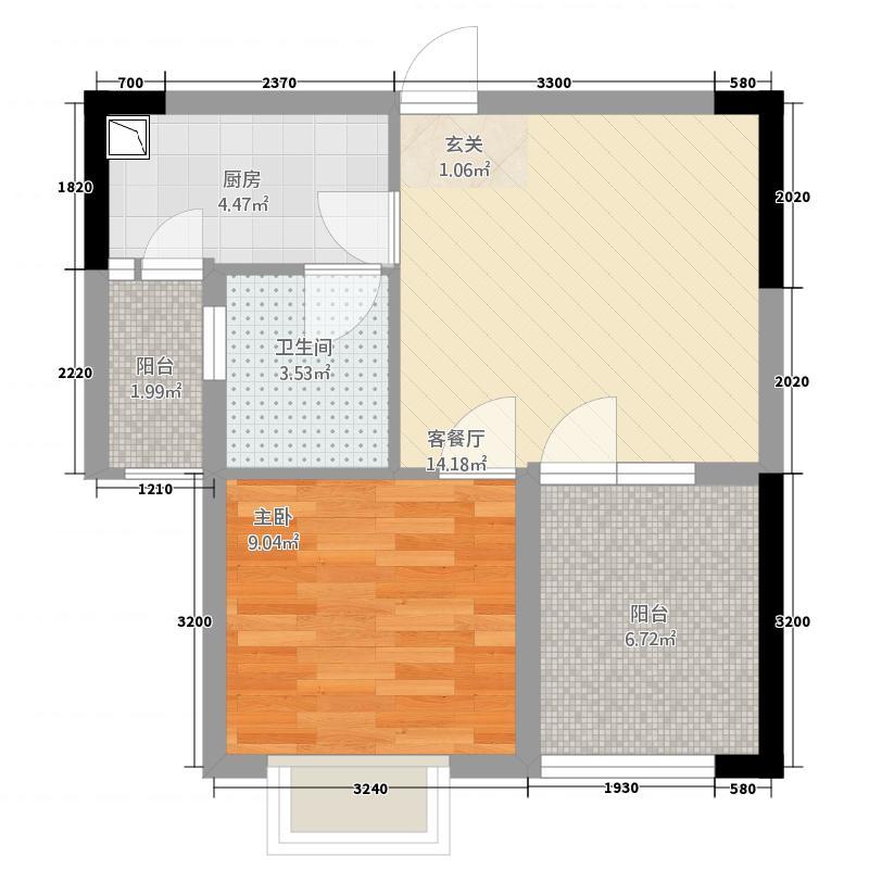永成公寓153.26㎡户型1室1厅1厨