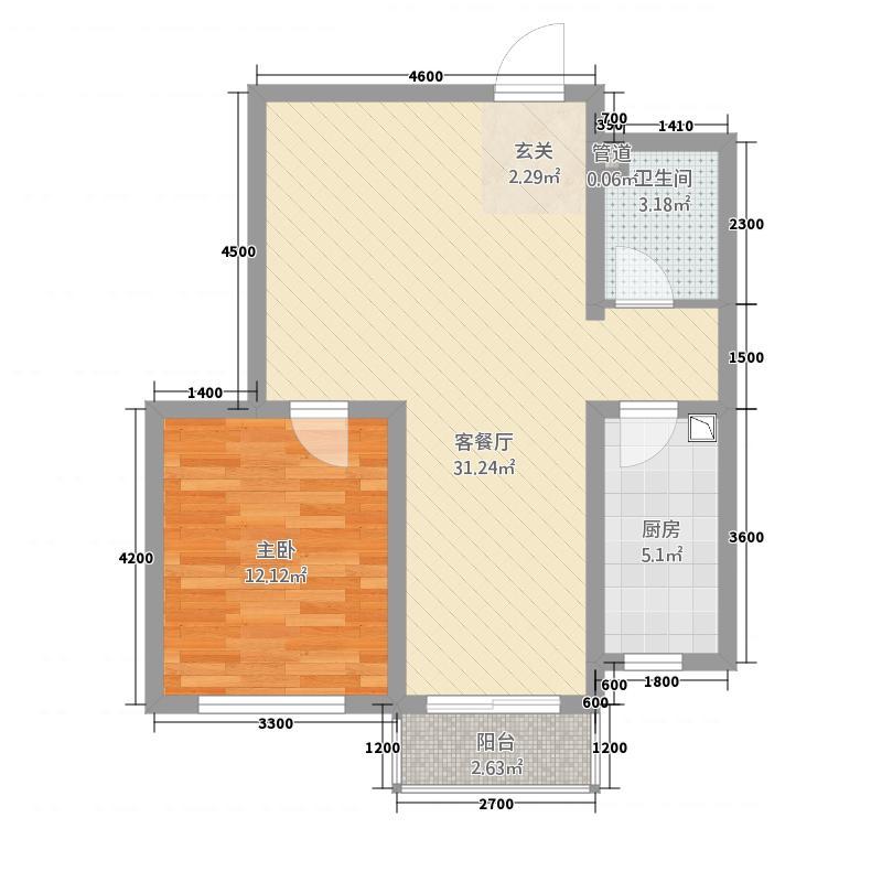 卧龙山庄171657.20㎡temp_户型1室2厅1卫1厨