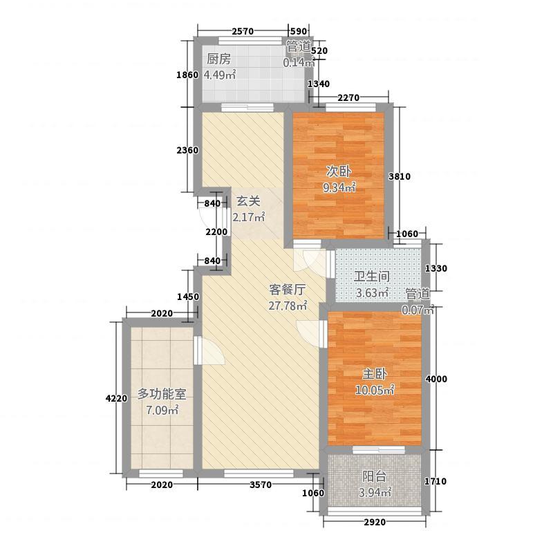 芳馨园317.20㎡户型3室1厅1卫1厨