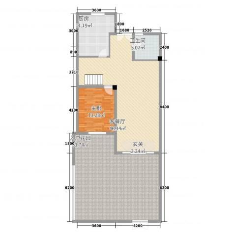 卡布其诺1室1厅1卫1厨177.00㎡户型图