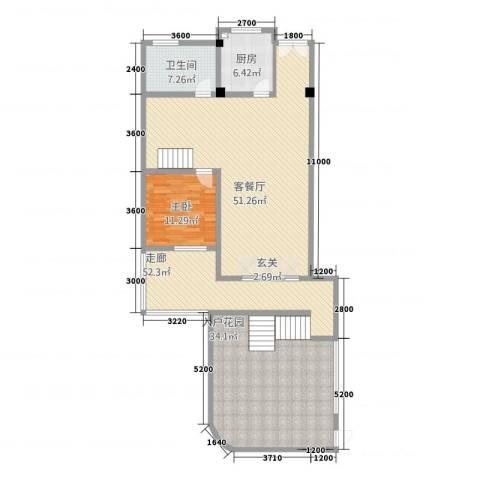 卡布其诺1室1厅1卫1厨179.00㎡户型图