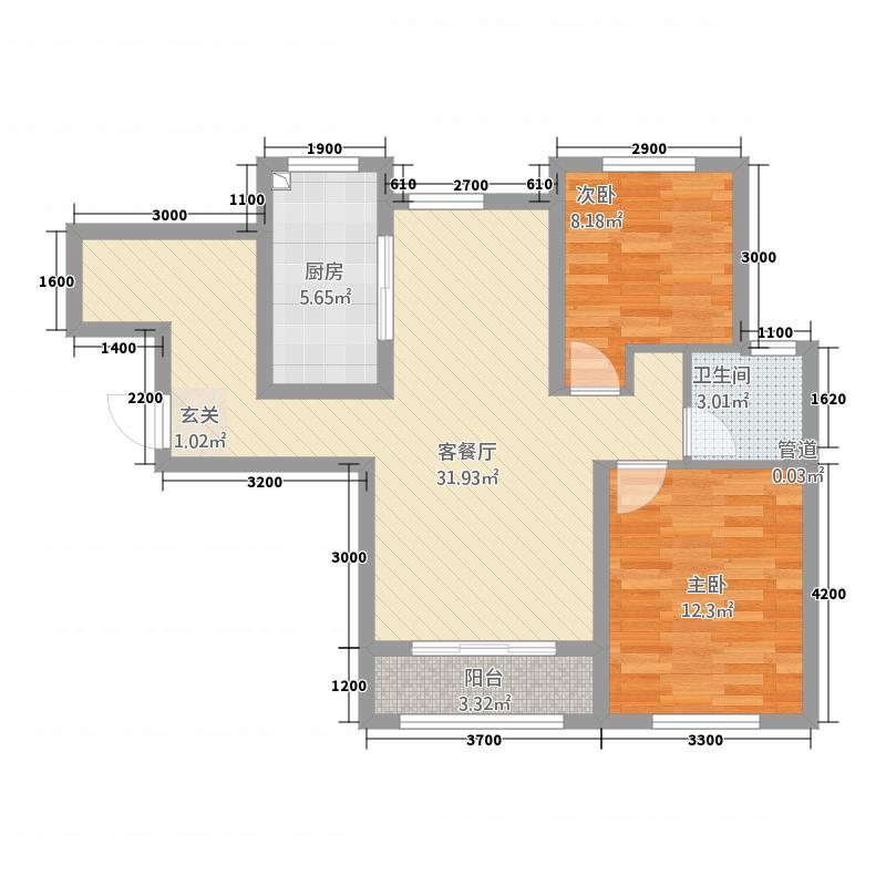 金地艺华年高层33、35号楼标准层H1户型