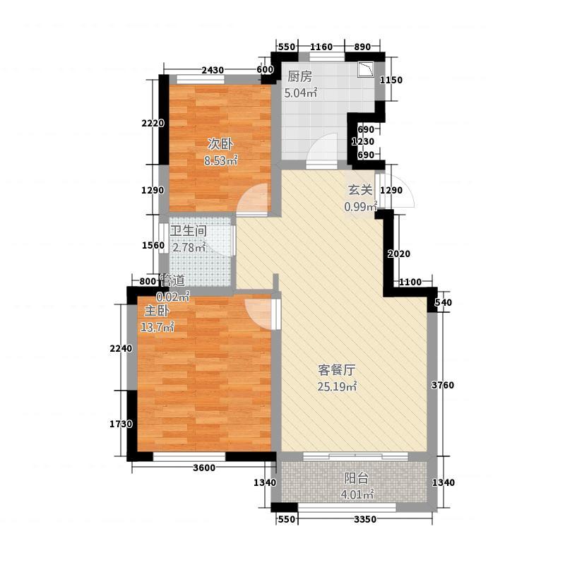 金地艺华年洋房11号楼标准层C1D户型