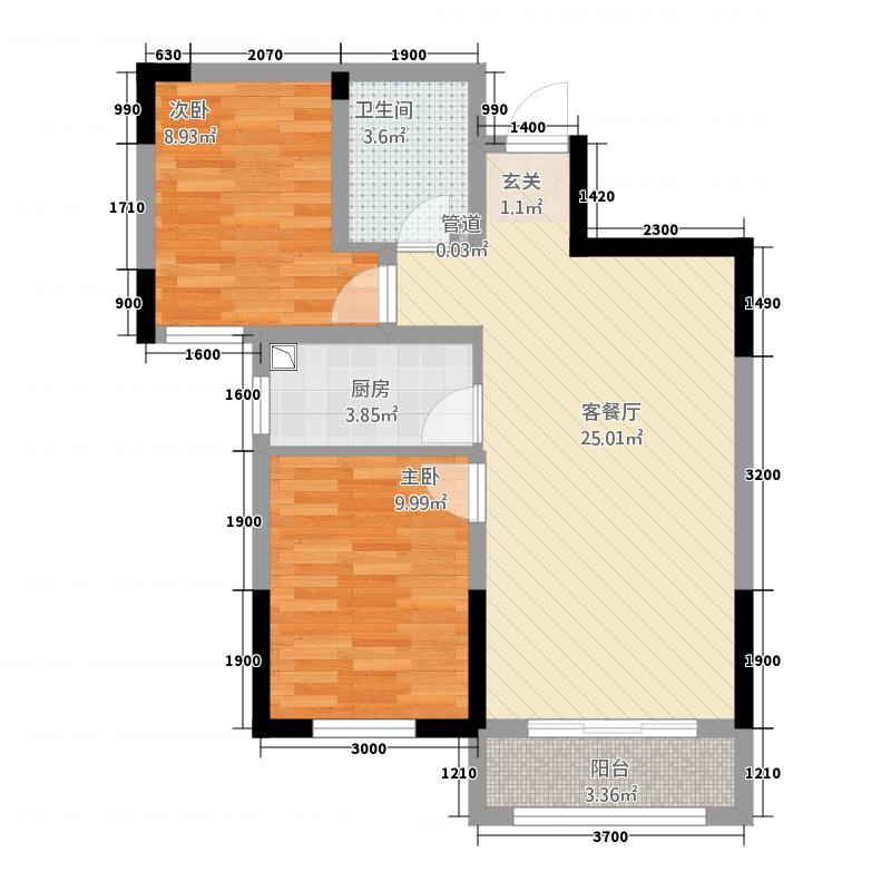 金地艺华年一期高层楼标准层J1户型