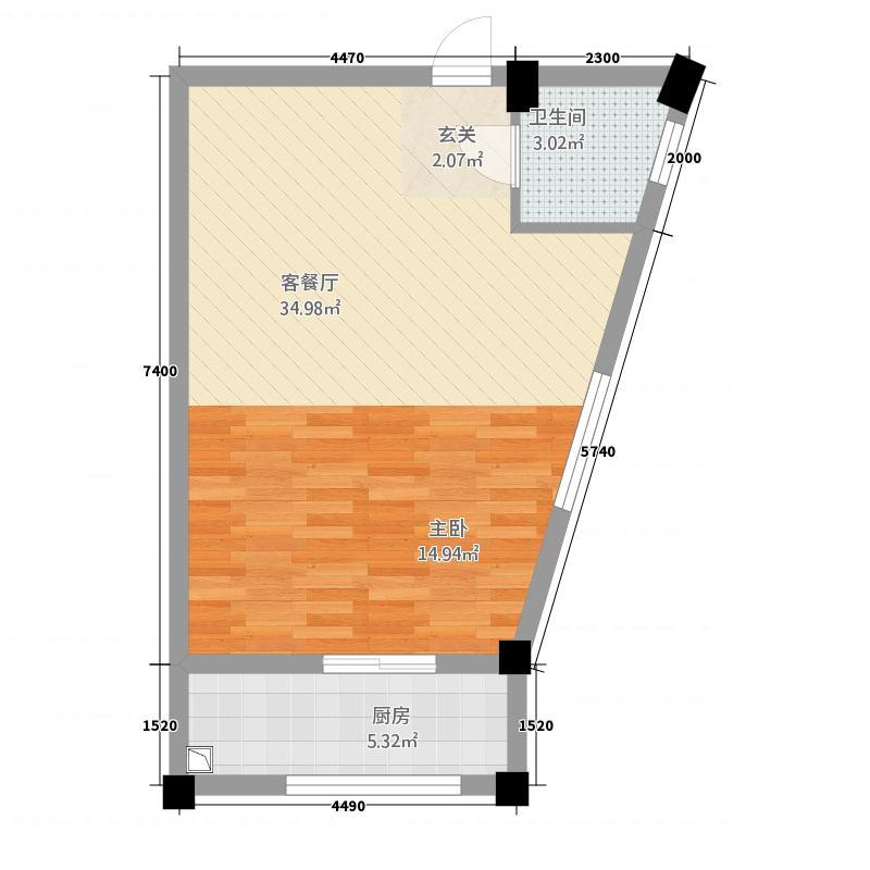 龙鑫新城211141.20㎡户型1室1厅1卫1厨