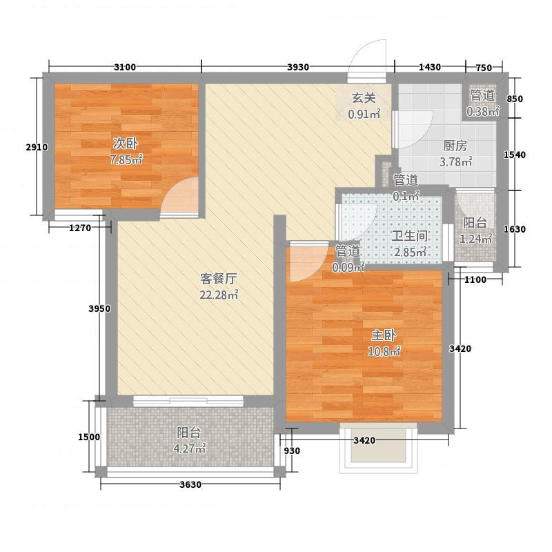 汉浦新村78.00㎡户型2室