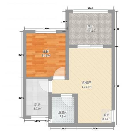 天岛湖1室1厅1卫1厨214426144.00㎡户型图