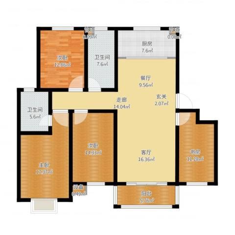 逸景和公馆4室1厅2卫1厨179.00㎡户型图
