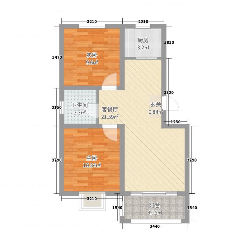 孚日惠达公寓76.20㎡惠达公寓B库・7534M²户型2室2厅1卫