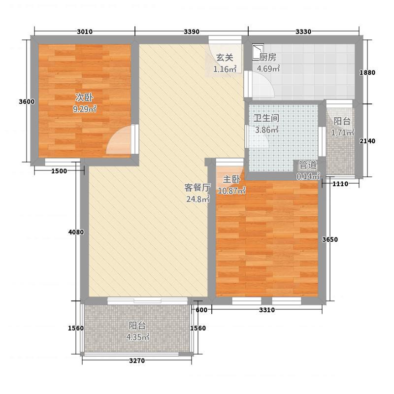 农房・英伦尊邸87.00㎡户型