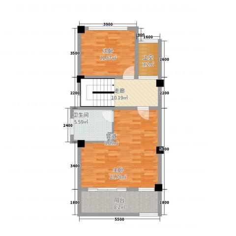玉水金地・白沙墅2室0厅1卫0厨62.92㎡户型图