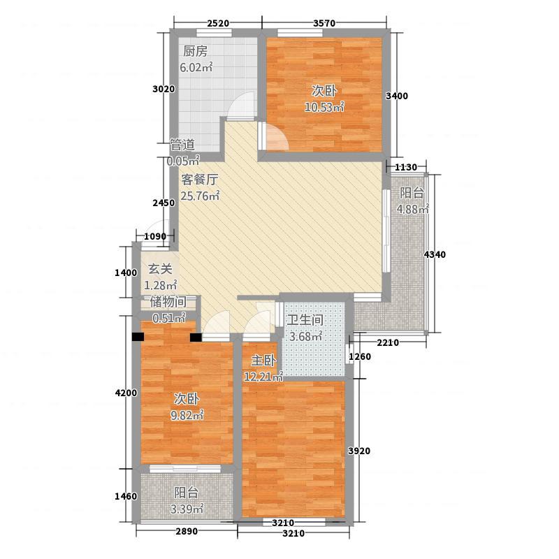 金桂花园13111.47㎡1#F户型3室2厅1卫