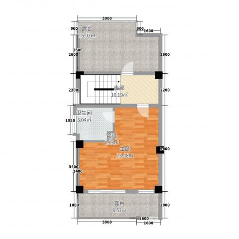 玉水金地・白沙墅1室0厅1卫0厨63.37㎡户型图