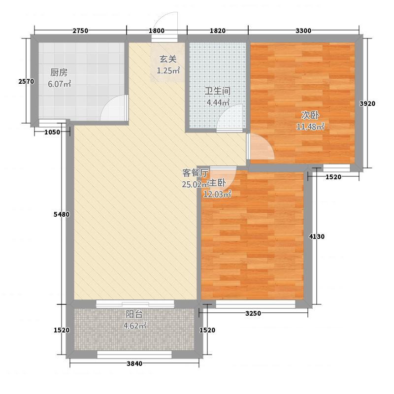 固原COCO蜜城5221.35㎡户型2室2厅1卫1厨
