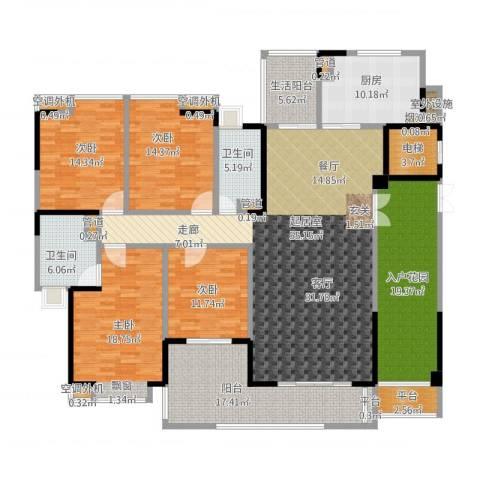 归心苑4室2厅7卫7厨265.00㎡户型图