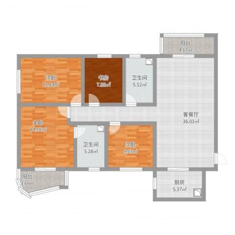 世纪一品4室1厅2卫1厨153.00㎡户型图