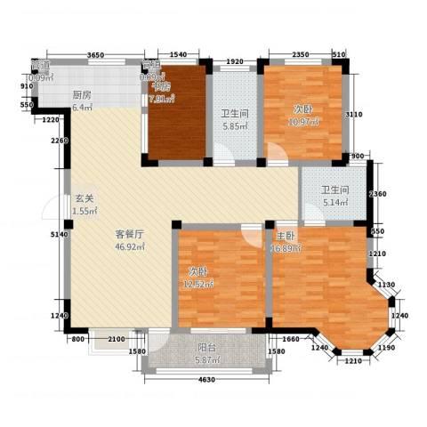 东方花园4室1厅2卫0厨416.00㎡户型图