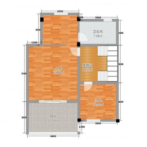 卡布其诺2室0厅1卫0厨107.00㎡户型图