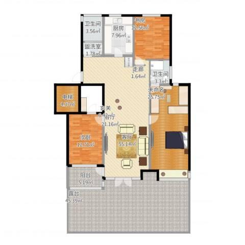 浦江坤庭1室2厅2卫1厨226.00㎡户型图