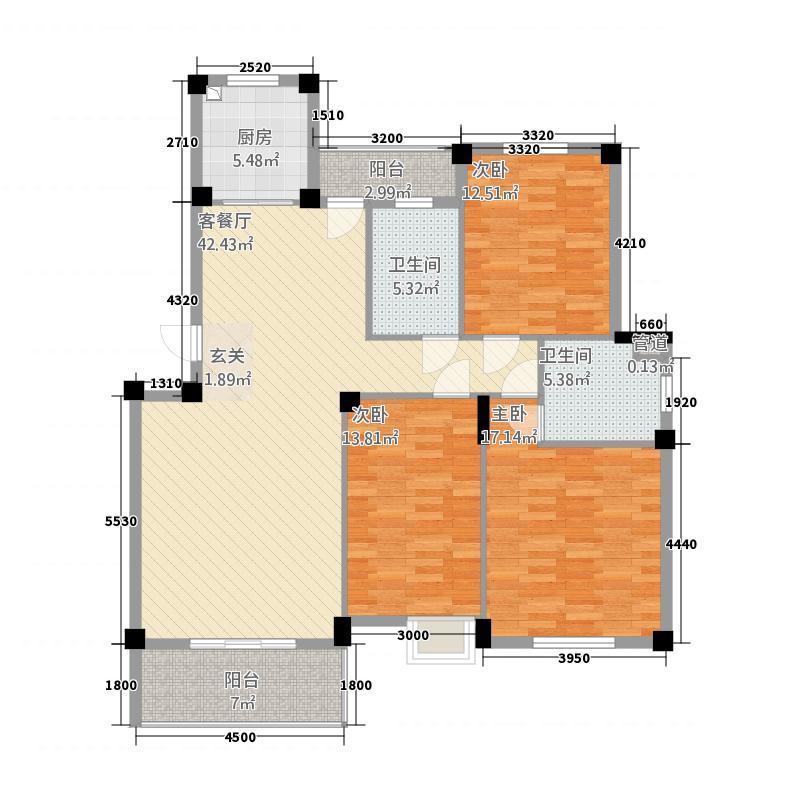 香山怡景112.81㎡A-1户型3室2厅2卫1厨