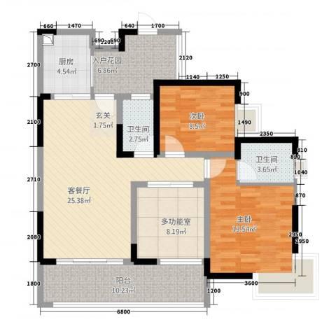 奥兰半岛二期2室1厅2卫1厨168.00㎡户型图