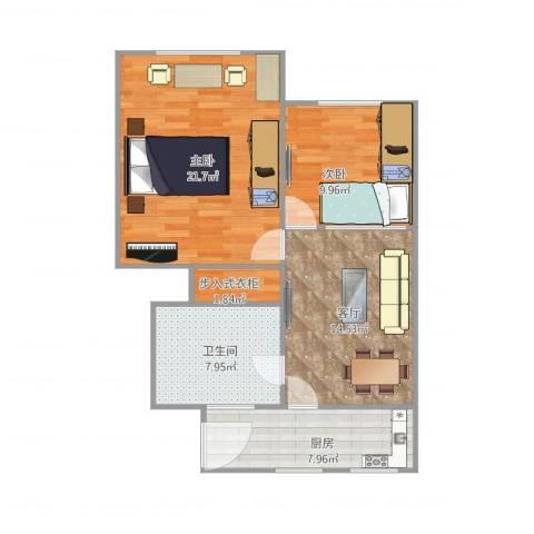 康泰公寓2室1厅1卫1厨86.00㎡户型图