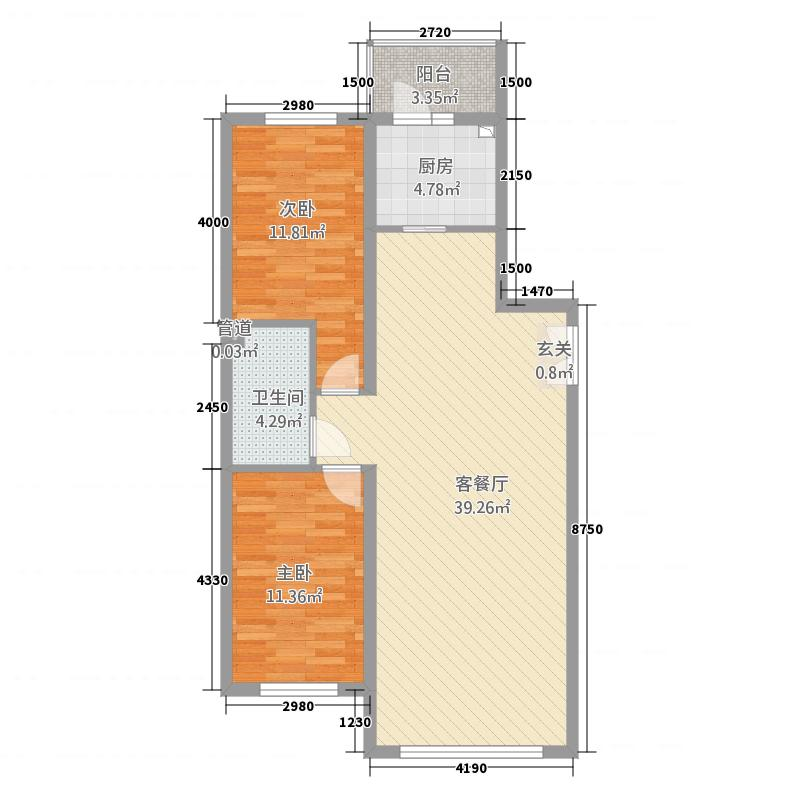 华安国际3.20㎡房型3户型