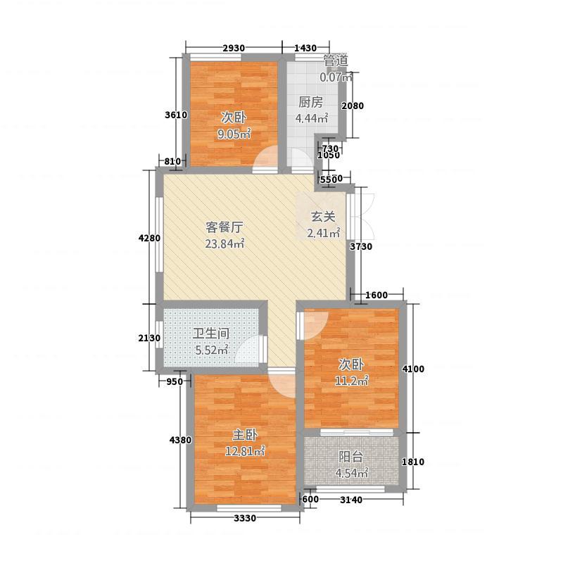 凯宇未来领寓17.20㎡图库・户型3室2厅1卫