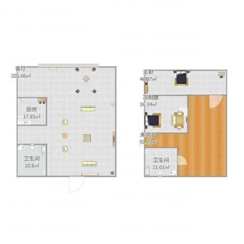 诚基中心2室1厅2卫1厨567.00㎡户型图