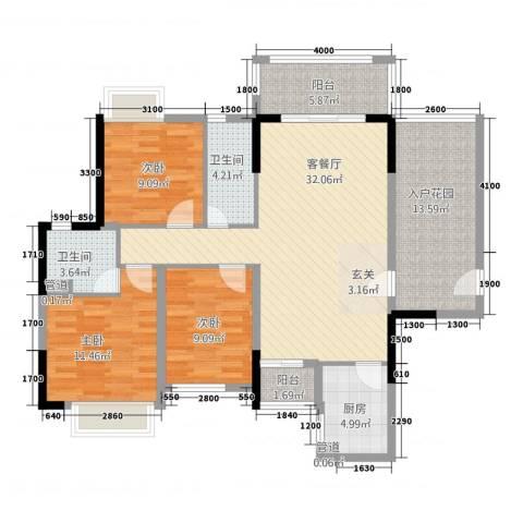 御景湾3室1厅2卫1厨215.00㎡户型图