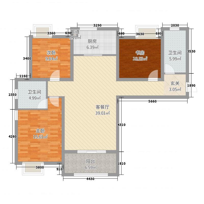 鑫鑫花园3143.20㎡户型3室2厅2卫1厨