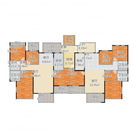 龙湖花千树8室1厅4卫2厨391.00㎡户型图
